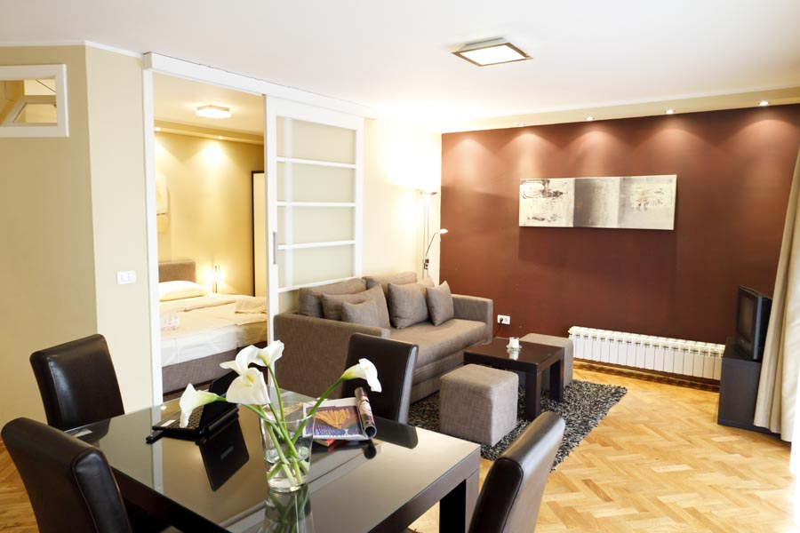 Apartment is situated in Dositejeva street in Belgrade, which is interesting for it's many diverse sides. First it starts from the very center of Belgrade, from the Republic Square. Here on one side y