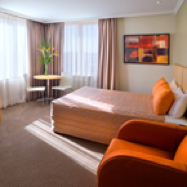 The hotel is located in the spectacular Bankstown Sports Club guests have access to all four of the Club restaurants, entertainment and conference facilities.  This  studio serviced apartment is 25 sq